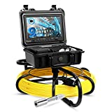 Eyoyo Pipeline Endoscope Inspection Camera 50M/164ft Underwater Industrial Pipe Sewer Drain Wall...