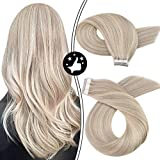 Tape in Hair Extensions Human Hair Moresoo Tape in Extensions 16inch...
