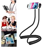 Cellet Lazy Neck, Tablet, Smart Phone Holder, 360 Rotating Mount Compatible for iPhone 11 Pro Max 11 Pro Xr Xs Max X 8 Samsung Note 10 9 8 S20 S20+ S20 Ultra S10+ S10 S10e S9+ Google Pixel 4XL 4 3XL 3