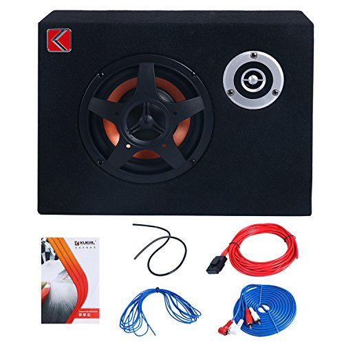 8'' Under-Seat Car Sub Woofer Modified Speaker Stereo Audio Bass Amplifier 4Ω 480W