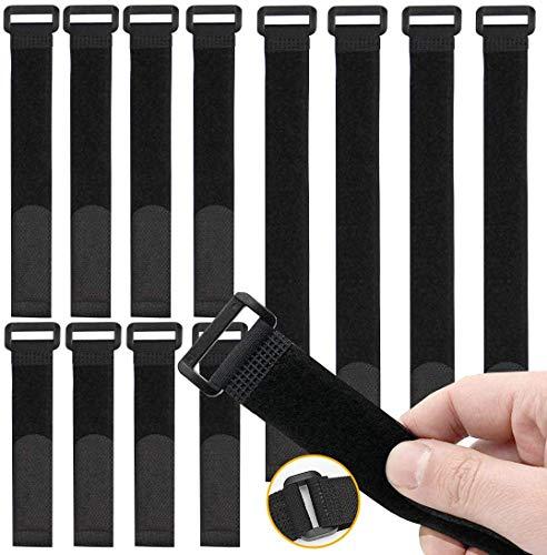Fascette Velcr, Fascette Cavi, 30pcs Fascette per Cavi Riutilizzabili Fissaggio Corda Cavo Titolare...