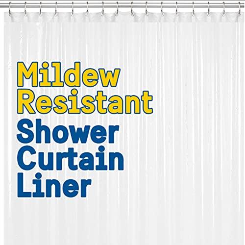BigFoot Shower Curtain Liner – 72 x 72 Heavy Duty PEVA Shower Liner...