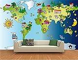 QBTE Personnalisé 3D Photo Papier Peint Mural Chambre d'enfants Universel...