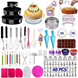 Cake Decorating Supplies 2021 Upgrade 460 PCS Baking Set with Springform Cake Pans Set,Cake Rotating Turntable,Cake Decorating Kits, Muffin Cup Mold, Cake Baking Supplies for Beginners and Cake Lovers