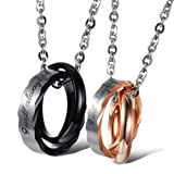 U365 Matching Couples Necklace Titanium...