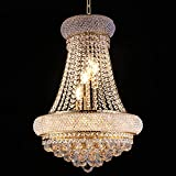 Crystal Chandelier Lighting for Dining Room Modern Luxury K9 Bedroom Crystal Chandeliers Ceiling Light French Empire Crystal Chandelier Gold 9 Lights