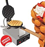 GorillaRock Bubble Waffle Maker Electric Non Stick Egg waffle machine 360 Rotated Stainless steel 110V