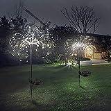 Lampe Solaire Exterieur Jardin, 120 LED Lumières de feu d'artifice solaire 40...