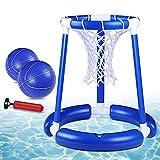 Pool Basketball Hoop with Basketball Floating Basketball Hoop for Swimming Pool Hoop Set with 2...