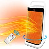 Patio Tower Heaters Electric with Remote - Oscillating Portable Large Fan Heater, Outdoor Ceramic Heater Thermostat 12 H Timer Overheat, Tip-over Protection, Office, Bedroom, Bathroom, Home, Indoor