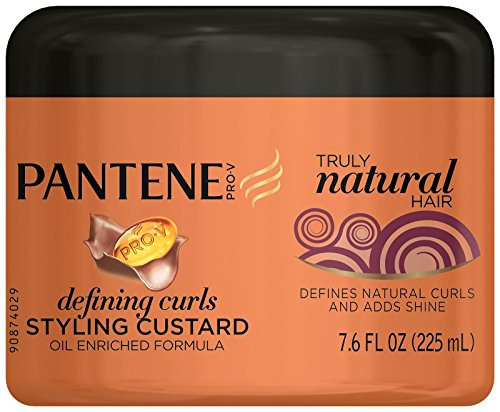 Pantene Pro-V Truly Natural Hair Defining Curls Styling Custard 7.6 Fl Oz (Packaging May Vary)