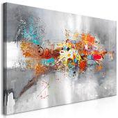 murando Cuadro en Lienzo Abstracto 120x60 cm 1 Parte Impresión en Material Tejido no Tejido Impresión Artística Imagen Gráfica Decoracion de Pared Colorido a-A-0415-b-a