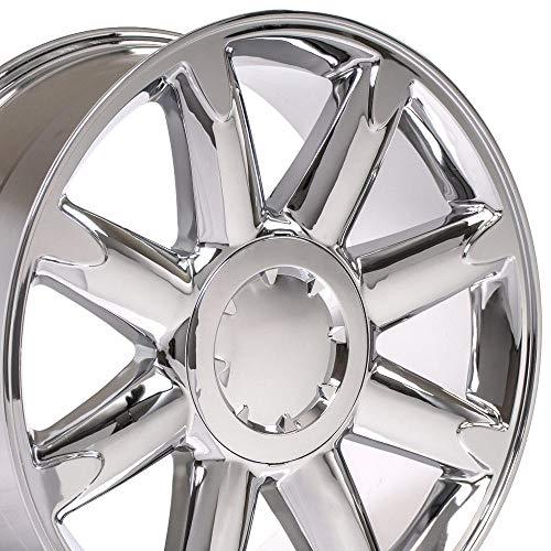 OE Wheels LLC 20 Inch Fits Chevy Silverado Tahoe GMC Sierra Yukon Cadillac Escalade CV85 Chrome 20x8.5 Rim Hollander 5304