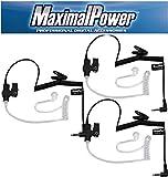 MaximalPower RHF 617-1N X3 3.5mm Receiver/Listen Only Surveillance Headset Earpiece, 3 Pack