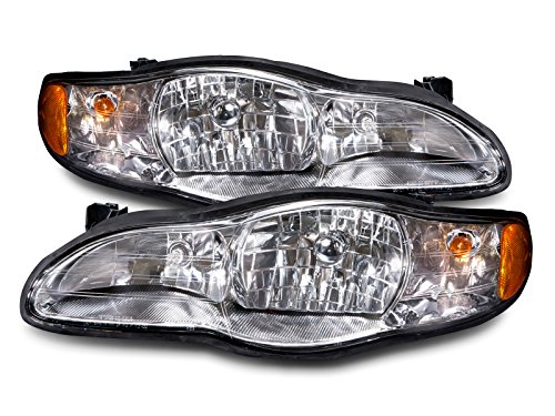 HEADLIGHTSDEPOT Halogen Headlights Compatible With Chevrolet Monte Carlo 2000-2005 Includes Left Driver and Right Passenger Side Headlamps