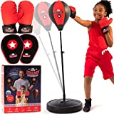 Punching Bag for Kids 3-10 Easy to Assemble +Boxing Gloves +Focus Pads