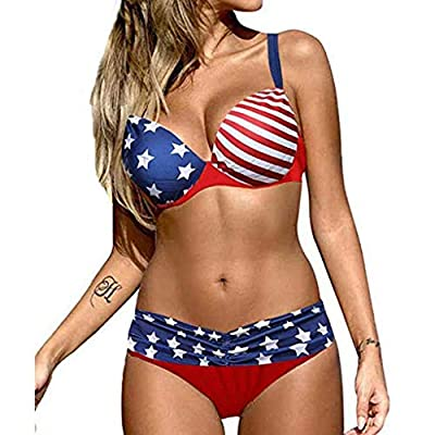 ❤[ QUALITY MATERIAL ] - Women High Waisted Swimsuit Two Piece Ruffled Flounce Top Women's V Neck One Piece Swimsuit Ruffled Lace Up Monokini Women Criss Cross High Waisted String Floral Printed 2 Piece Bathing Suits Women's Swimsuit One Piece Swimwea...
