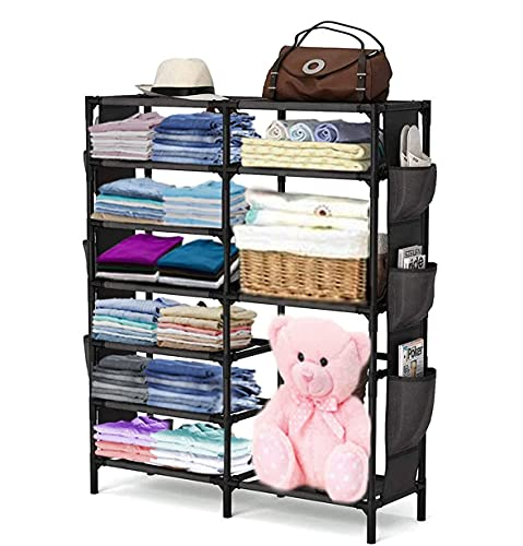 AYSIS 7+2 Shelve Baby Wardrobe, Fancy and Portable Foldable Collapsible Closet/Cabinet (Need to Be...