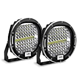 Round LED Light Bar Safego 7 inch Round Off-Road Lights 2Pcs 300W 30000Lm Waterproof Spot Beam led pod Led Work Light Driving Light Compatible with Truck SUV ATV Tractor Boat