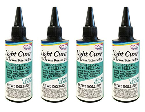 Signature Crafts Clear Ultraviolet Light Curing UV Resin for Jewelry Making, 100g – 4 Pack
