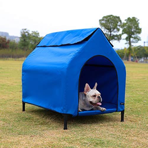 Amazon Basics - Caseta para mascotas, elevada, portátil, pequeña,...