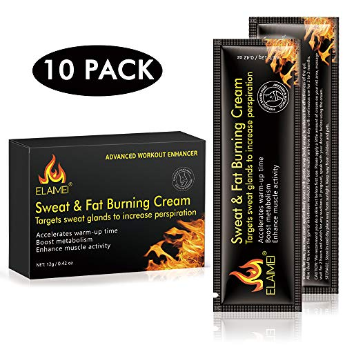 Hot Sweat Cream, Extreme Cellulite Slimming & Firming Cream, Body Fat Burning Massage Gel Weight Losing, Hot Serum Treatment for Shaping Waist, Abdomen and Buttocks Legs 60ml (10 pack) 1