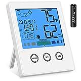 Newdora Thermomètre Numérique Thermomètre Intérieur Thermomètre Numérique Électronique Thermomètre Hygromètre avec Grand Écran LCD pour Bureau Cuisinie Salon Chambre Serre
