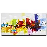 Tableau abstrait peint à la main Fokenzary, toile sur châssis prête à...