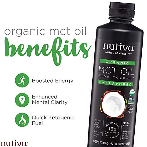 Nutiva Organic MCT Oil, Keto & Paleo Friendly, Unflavored, 1 Gallon 11
