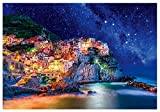 HZW Cinque Terre Jigsaw Puzzle for Adult Teens and Kids 300/1000 Pieces Paper Jigsaw Glow in The Dark Puzzle Games Great Gift for Girls and Boys,1000pc