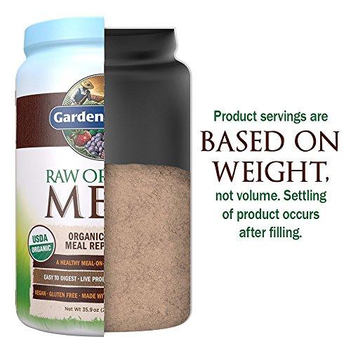 Garden of Life Meal Replacement - Organic Raw Plant Based Protein Powder, Chocolate, Vegan, Gluten-Free, 35.9oz (2lb 4oz/1,017g) Powder 10