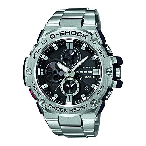 CASIO Herren Digital Uhr mit Edelstahl Armband GST-B100D-1AER