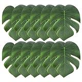 JieGuanG Lot de 12 feuilles de palmier artificielles tropicales 15 cm