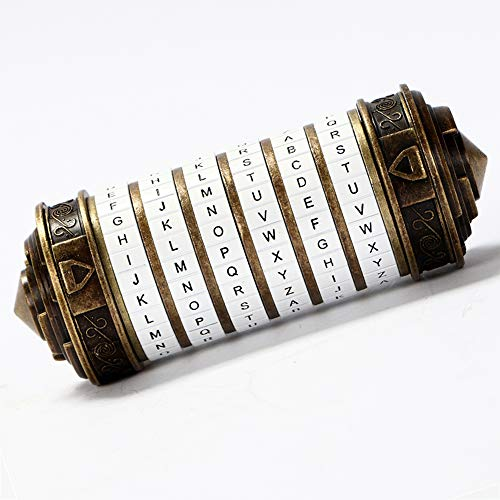 Da Vinci Code Cryptex Puzzel Box Valentine's Day Gifts Creative Birthday Gifts for Her Romantic Wedding Anniversary Gifts Birthday Entertaining Game Props