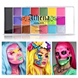 UCANBE Athena Face Body Paint Oil Palette, Professional Flash Non Toxic Safe Tattoo Halloween FX...