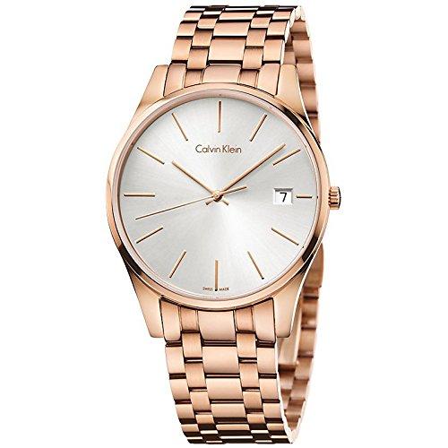 Calvin Klein Herren-Armbanduhr Analog Quarz Edelstahl K4N21646