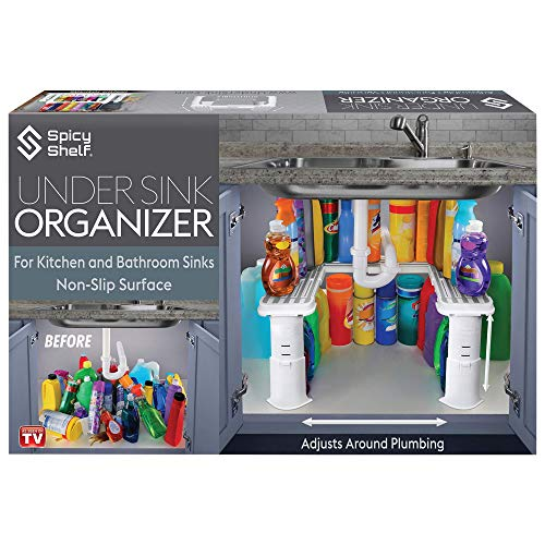 Expandable Under Sink Organizer and Storage I Bathroom Under the...