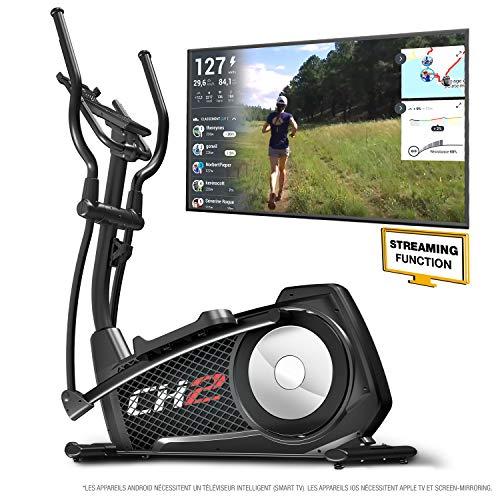 Sportstech CX2 Vélo elliptique - Marque allemande de qualité - Vidéo Events & Multijoueur - Entraîneur elliptique avec console et support pour tablette, ergomètre avec volant de 27 Kg (CX2_Modell2020)