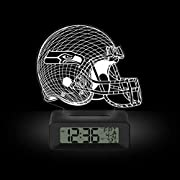 LED light beautifully illuminates the helmet-shaped acrylic engraved with precision to showcase your team's logo and create a 3D Illusion Package includes desk clock LED base, unique acrylic mold featuring your official team logo, Micro USB Cable Ala...