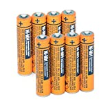 8PCS NI-MH AAA Rechargeable Battery for Panasonic HHR-65AAABU 1.2V Replacement Battery