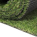 Carpeto Rugs Premium Gazon Artificiel pour Balcon Terrasse Synthetique Exterieur Vert - Synthétique au mètre 250 tailles disponibles Poils Longs - 1m 2m 3m 4m - Vert 400 x 300 cm (12m2)