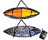 Kayak Cover Waterproof for Outdoor Indoor Storage Dust Cover-UV Sunblock Shield with Back Rope Boat Storage Cover Shield Protector Kayak Canoe Cockpit Accessories for Outdoor Storage 13.5-14.8ft