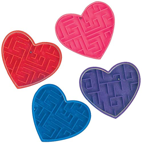 Valentine Maze Puzzles (72 Pack) Valentine's Day Party...