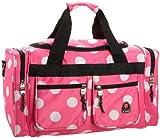 Rockland Duffel Bag, Pink Dots, 19-Inch