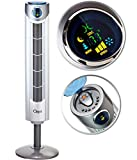Ozeri Ultra 42 Wind Adjustable Oscillating Noise Reduction Technology Tower Fan