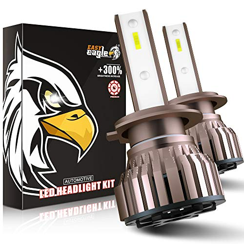 EASY EAGLE H7 LED 10800LM Lampadine per Fari Anteriori di Auto e Moto, 12V, 6000K