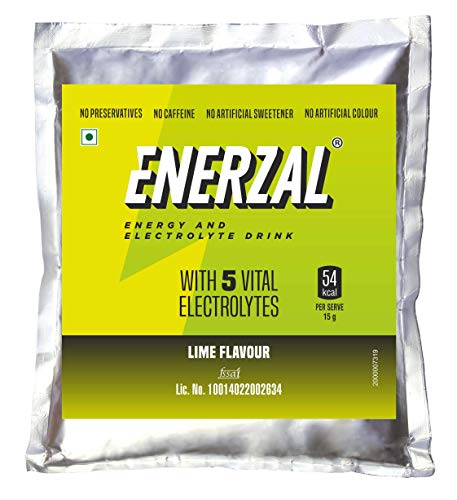 Enerzal Energy Drink Powder Lime Flavour (Pack)1 kg