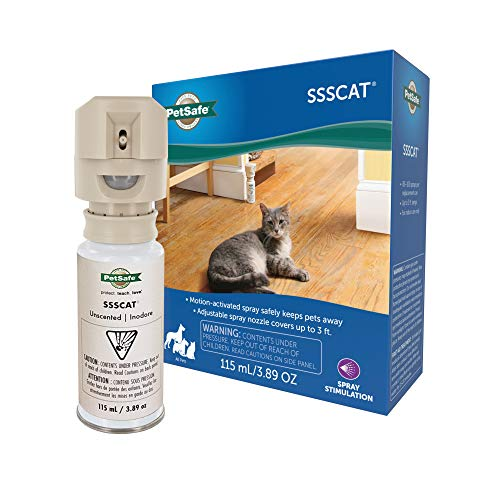 PetSafe SSSCAT Spray Pet Deterrent, Motion Activated Pet Proofing Repellent for Cats and Dogs, Environmentally Friendly