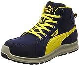 [プーマセーフティー] 安全靴 作業靴 ライダー ミッドカット JSAA A種認定 先芯合成樹脂 衝撃吸収 静電 靴幅4E ジャパンモデル メンズ ブルー 26.5 cm