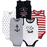 Hudson Baby Unisex Baby Cotton Sleeveless Bodysuits, Pirate Ship, 18-24 Months